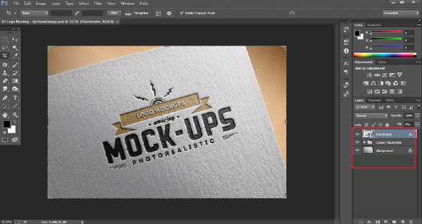 Thiết kế mockup trên phần mềm đồ họa Photoshop