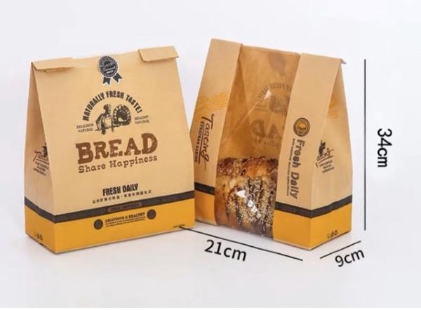 Mẫu túi giấy đựng bánh mì hoa cúc