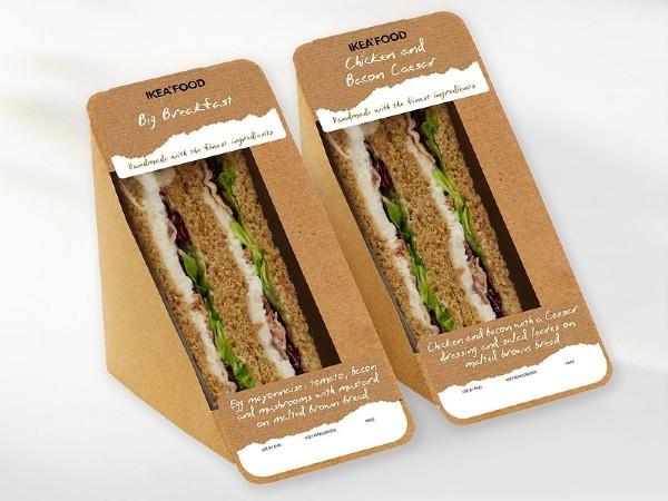 Mẫu túi giấy đựng bánh mì sandwich